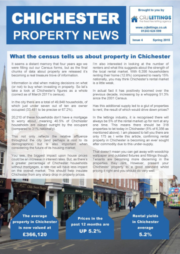 chichester property news - spring 2015 page 1