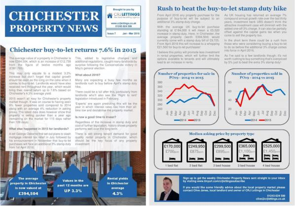 Chichester Property News January-March 2016
